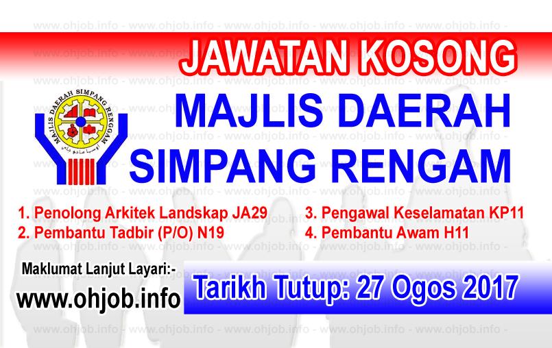 Jawatan Kerja Kosong Majlis Daerah Simpang Renggam logo www.ohjob.info ogos 2017
