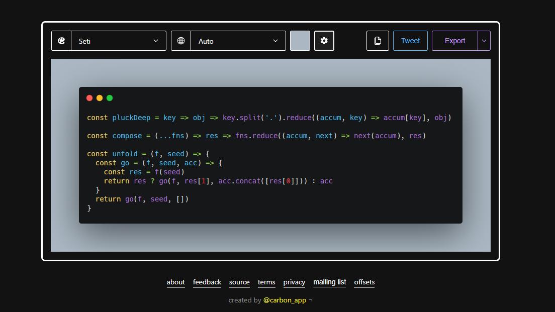 Cara Membuat Screenshot Code Menjadi Lebih Rapih Dengan Carbon
