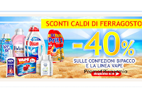 Logo Sconti bollenti di Ferragosto in Casa Henkel : - 40% confezioni bipacco e Vape