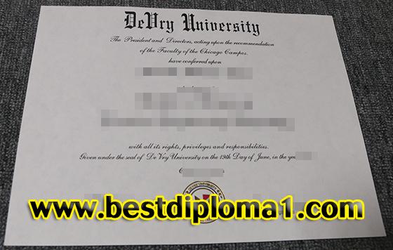 Devry University degree