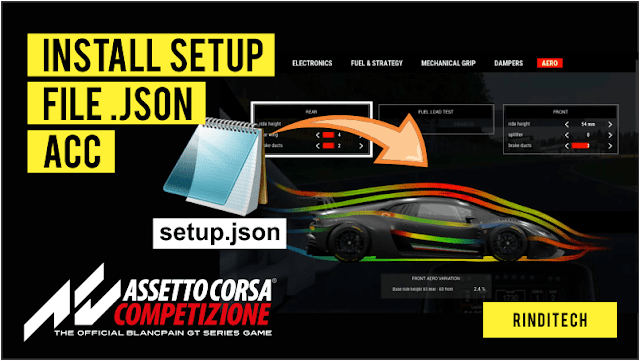 How to Install a JSON Setup File in Assetto Corsa Competizione Game