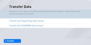 Transfer data PES mobile