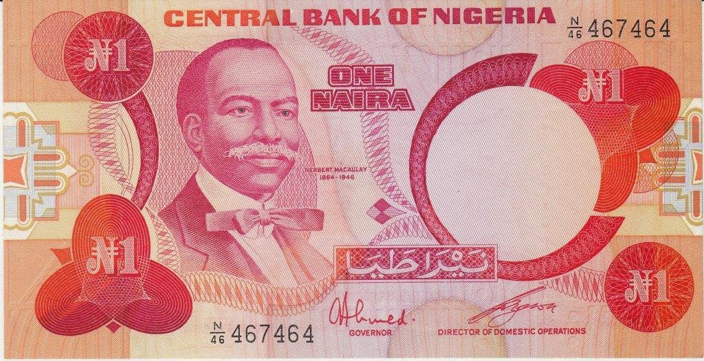one naira nigerian note picture