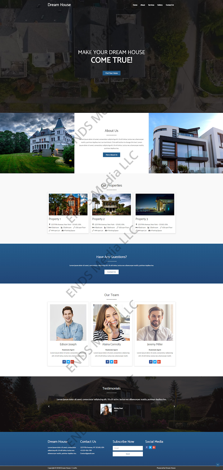 ENDS Media Real Estate Responsive Website Design Portfolio