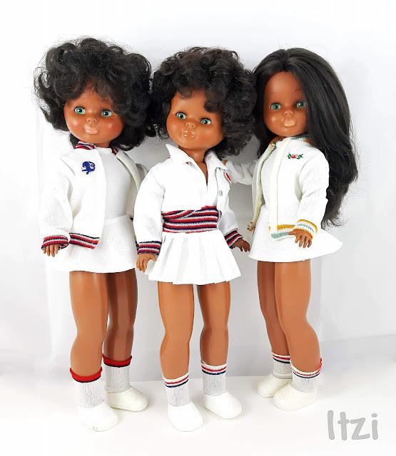 Muñeca Nancy clasica negrita con conjunto Tenis de Ninua creaciones marco