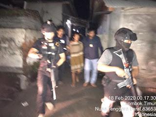 Buronan terduga curanmor saat dibekuk Polisi