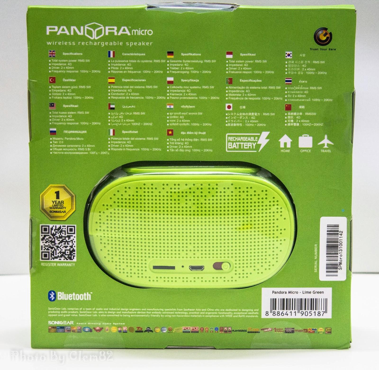 Opening Pandora's Box: SonicGear Pandora Wireless Bluetooth Media Player Series 4