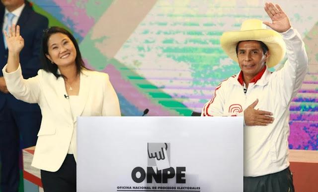 Resultados ONPE al 42.03% - Elecciones 2021: Keiko Fujimori alcanza 52.905% y Pedro Castillo 47.095%