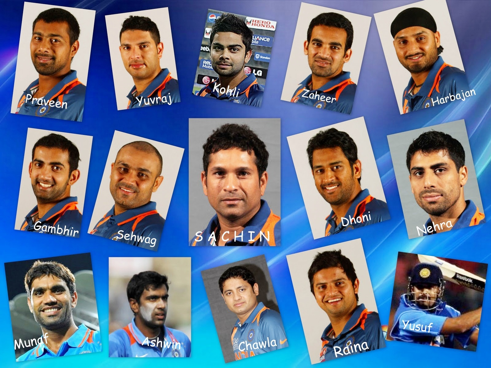 Indian Cricket Team Players: GK: July 2011
