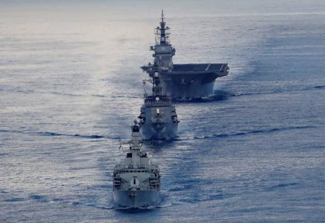 Nhật Bản tung tàu chiến lớn nhất vào Ấn Độ Dương