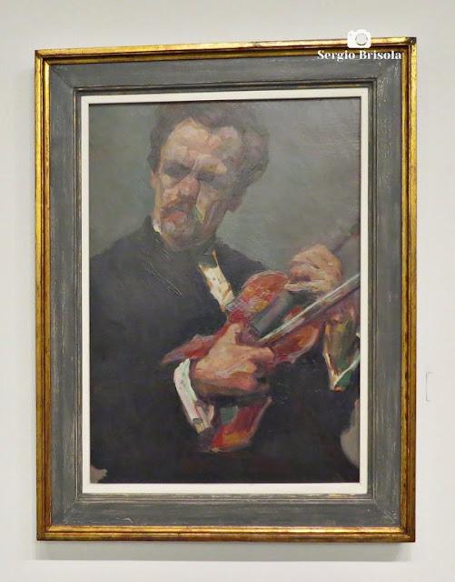 Close-up da Obra Geiger O Violinista - Museu Lasar Segall - São Paulo