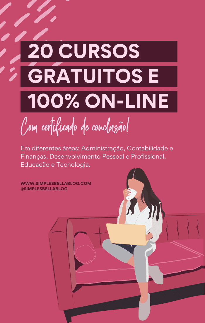 20 cursos gratuitos e 100% on-line (com certificado)