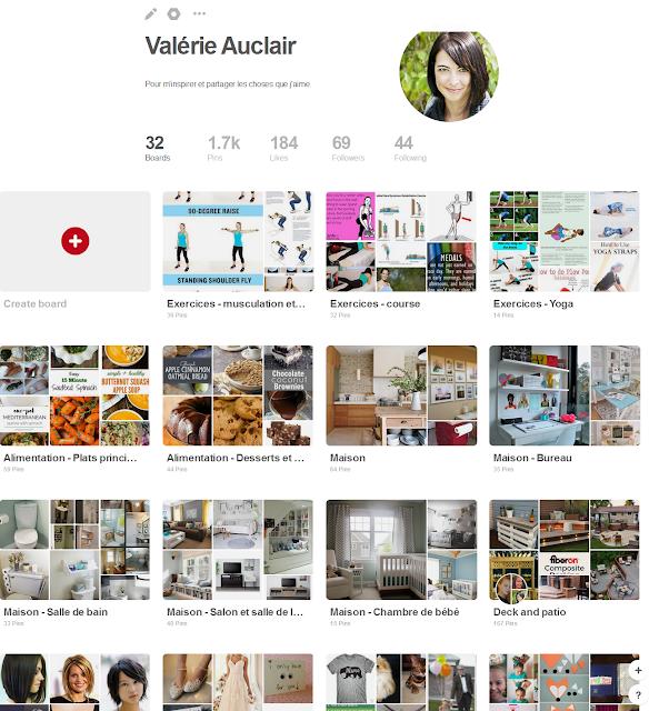 page Pinterest Valérie Auclair tableaux
