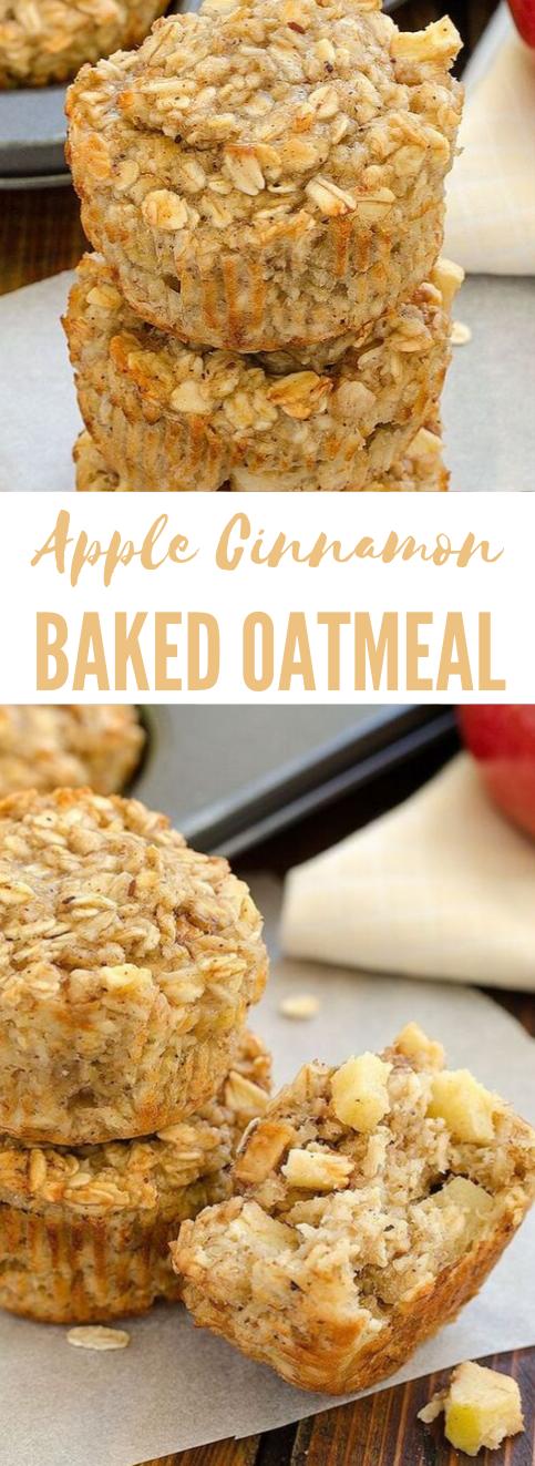 Apple Cinnamon Baked Oatmeal #desserts #oatmeal #apple #cinnamon #cakes
