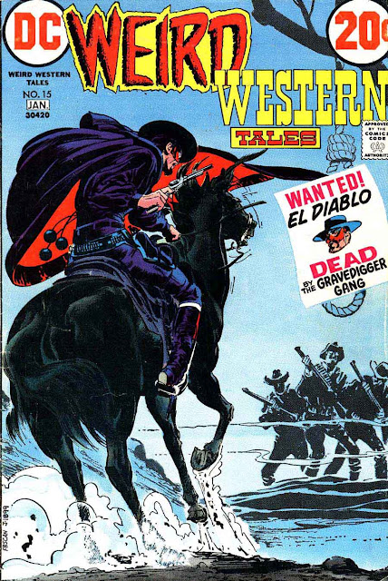 Weird Western Tales v1 #13 dc el diablo 1970s bronze age comic book cover art by Neal Adams