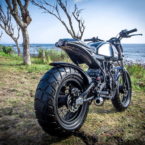 Yamaha Scorpio 225 By Smoked Garage Hell Kustom