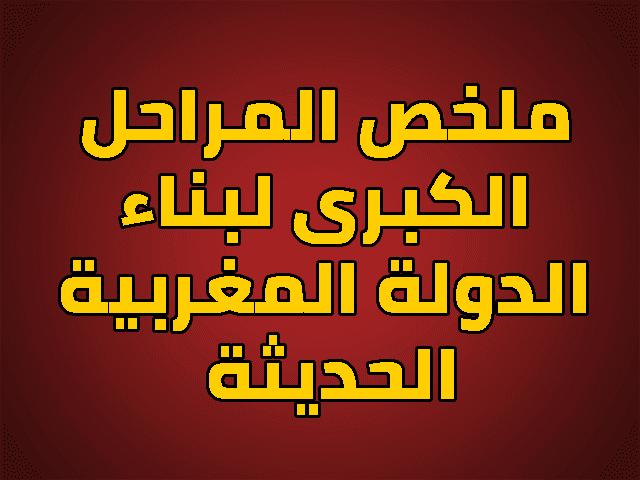 ملخص المراحل الكبرى لبناء الدولة المغربية الحديثة