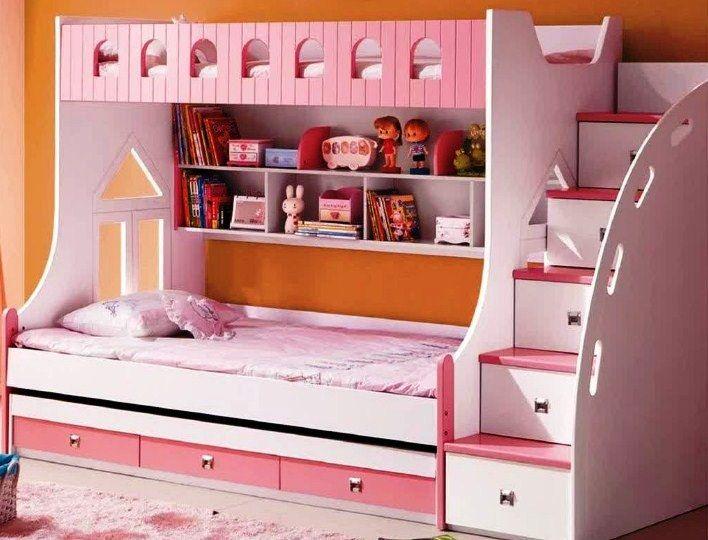 Contoh Desain Kamar Tidur Anak Perempuan Tingkat