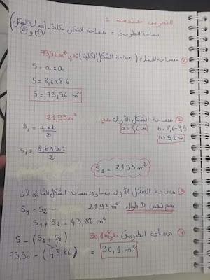 اختبارات الفصل الثاني في مادة الرياضيات  للسنة الاولى  متوسط 2021