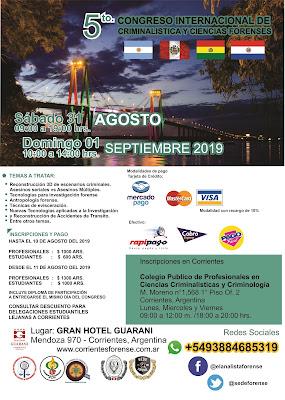 5to. Congreso Internacional de Criminalistica y Ciencias Forenses