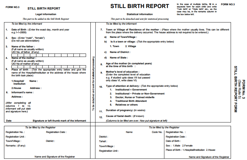 Ration birth pan marriage death aadhar card in india crsorgi death report form 3 yelopaper Image collections