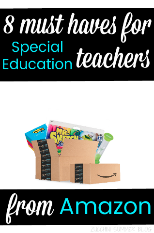 amazon for teachers, special ed, new special education teacher
