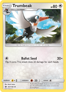 Trumbeak Sun and Moon Pokemon Card