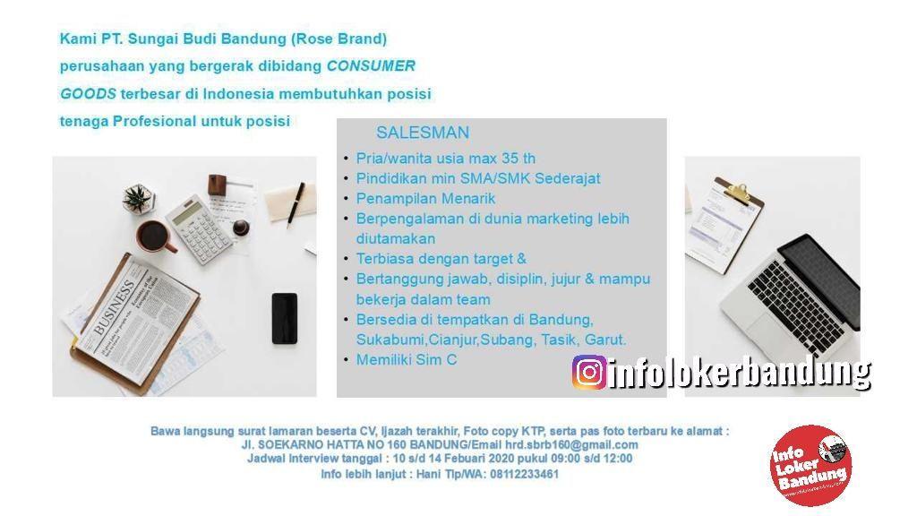 Lowongan Kerja PT. Sungai Budi Bandung ( Rose Brand ) Februari 2020