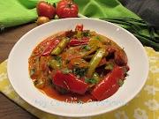 Спецофай - гръцко ястие с наденица и чушки * Spetzofai - peperoni e salsiccia alla greca