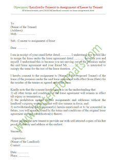 consent of landlord to assignment of lease by tenant