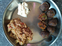 Finger millet (Ragi)  Veg Dumplings,  Bottle gourd-Chayote  (Chow Chow) masala,  Coconut chutney