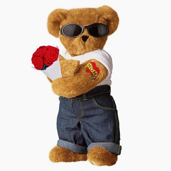Boneka beruang lucu banget keren pakai kacamata