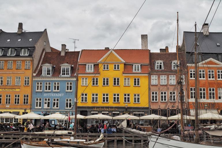 Les façades colorées du port de Copenhague : Nyhavn