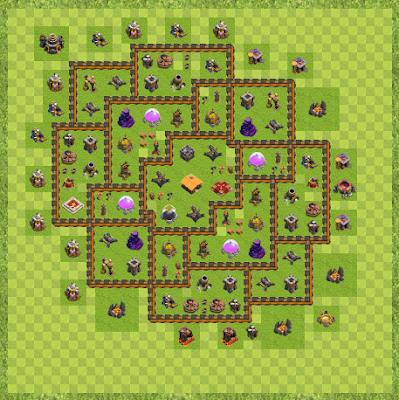 War Base Town Hall Level 10 By Damon2540 (War1 TH 10 Layout)