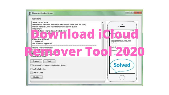 Download iCloud Remover Tool 2020 Bypass/Unlock iCloud Activation for free