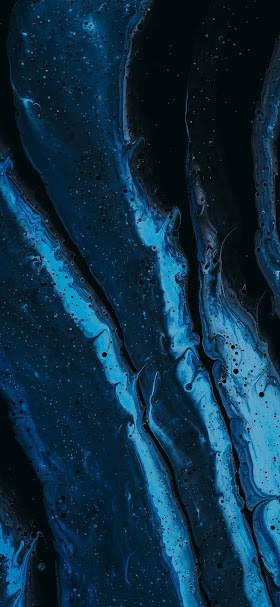 Blue abstract painting wallpaper
