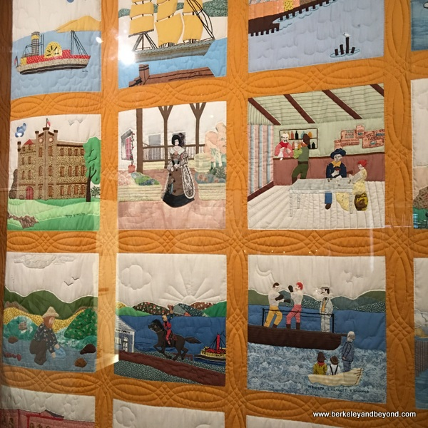 Benicia history quilt at Benicia Historical Museum at the Camel Barns in Benicia, California