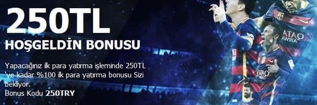 Odeonbet 250 TL Hoşgeldin Bonusu