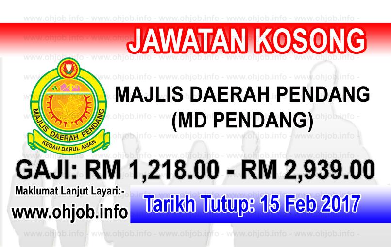 Jawatan Kerja Kosong Majlis Daerah Pendang (MDPendang) logo www.ohjob.info februari 2017
