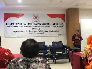 Ketua MKW INI Jambi Secara Resmi Membuka Konferda Pengda INI MERSSI.