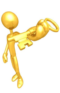 gold figurine holding a golden key - technitrader