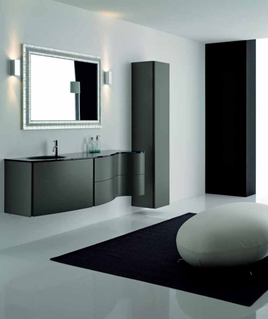 black cabinet for bathroom design interior minimalis elegante gabinete negro para un 17390