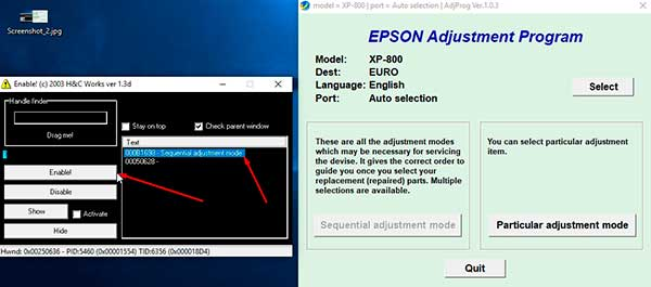 Reset Epson XP-800 Waste Ink Pad Counter