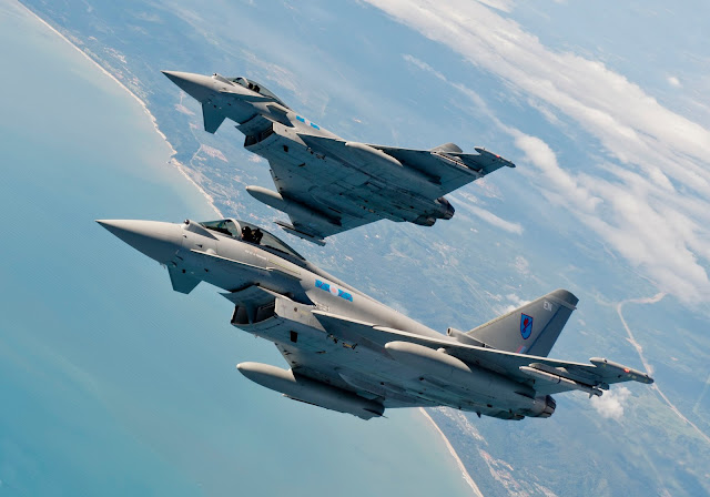 Eurofighter Typhoon EF2000 of Royal Air Force Squadron 6