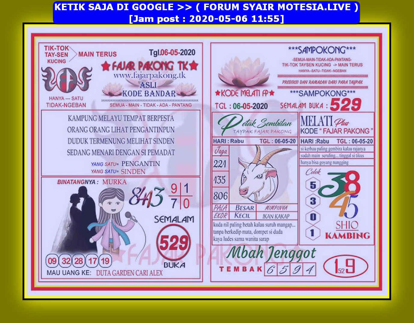 Kode syair Hongkong Rabu 6 Mei 2020 92