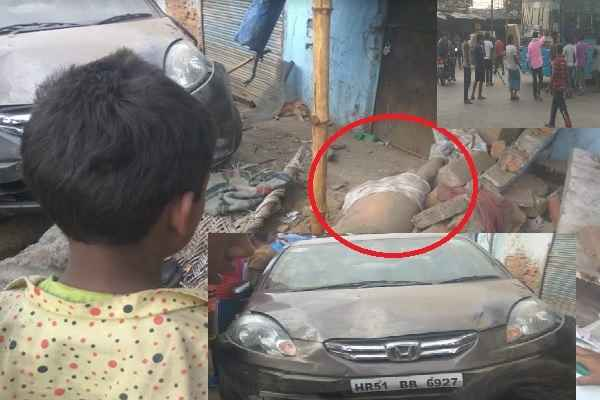 faridabad-old-bypass-road-car-accident-two-people-dead-news