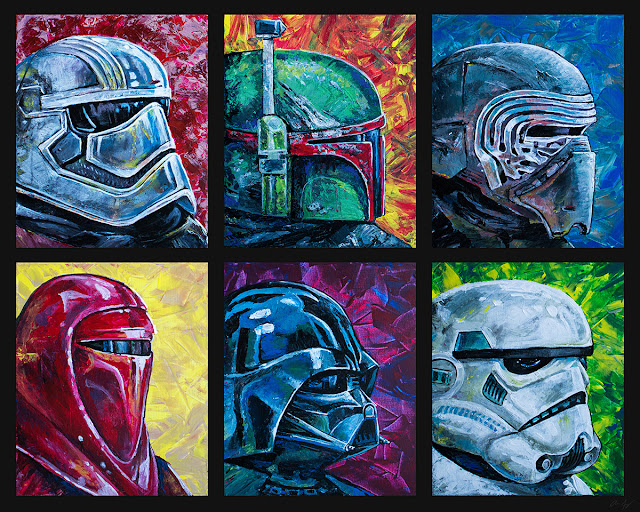 Star Wars character painting collection