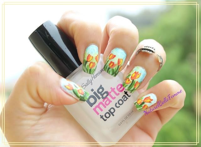 Tulip flower nail