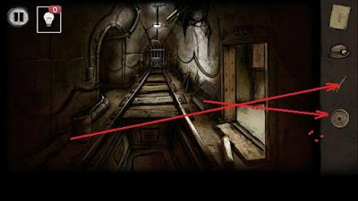 гаечный ключ и колесо забираем в игре выход из заброшенной шахты