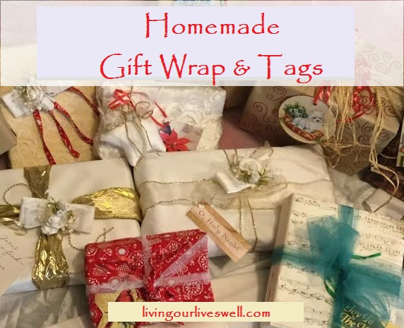 DIY gift wrap and tags